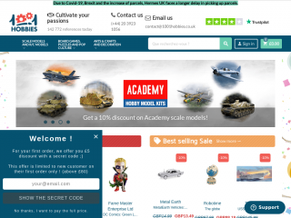 1001hobbies.co.uk screenshot