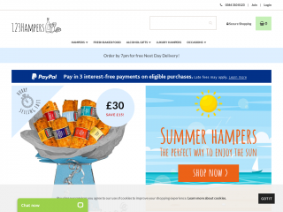 123-hampers.co.uk screenshot