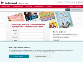 abebooks.co.uk screenshot