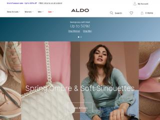 aldoshoes.co.uk screenshot