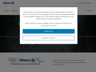 allianz.co.uk screenshot