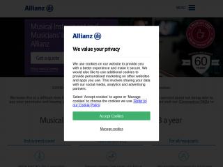 allianzmusicalinsurance.co.uk screenshot