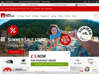 alpinetrek.co.uk screenshot