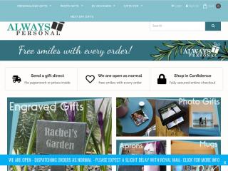 alwayspersonal.co.uk screenshot