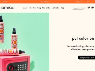 amika.com.hk screenshot