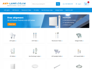 any-lamp.co.uk screenshot