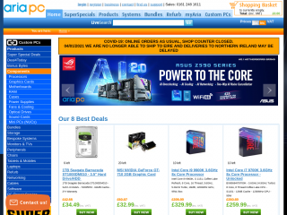 aria.co.uk screenshot