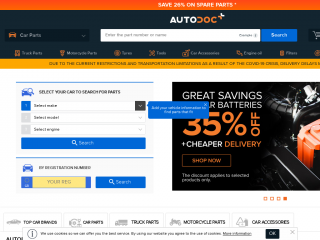 autodoc.co.uk screenshot