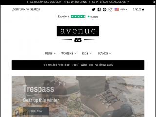 avenue85.co.uk screenshot