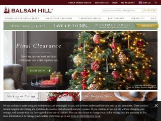 balsamhill.co.uk screenshot