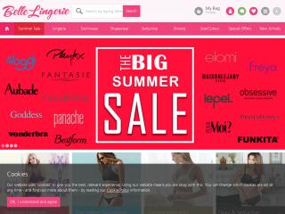 belle-lingerie.co.uk screenshot