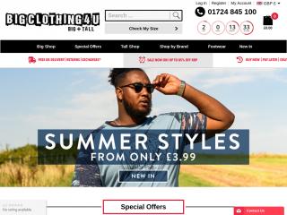 bigclothing4u.co.uk screenshot