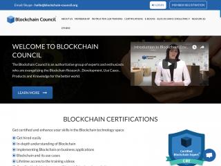 blockchain-council.org screenshot