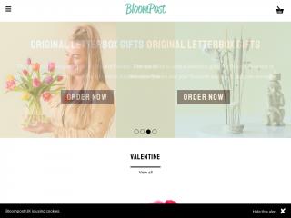 bloompost.co.uk screenshot