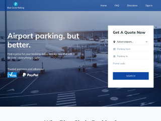 bluecircleparking.co.uk screenshot