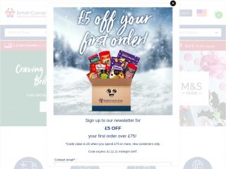 britishcornershop.co.uk screenshot