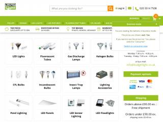 budgetlight.co.uk screenshot