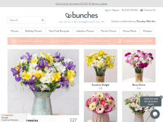 bunches.co.uk screenshot