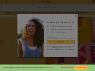 burtsbees.co.uk screenshot