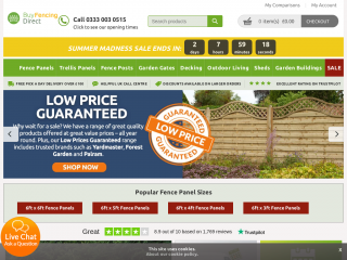 buyfencingdirect.co.uk screenshot