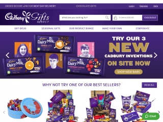 cadburygiftsdirect.co.uk screenshot