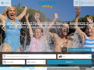 canvasholidays.co.uk screenshot
