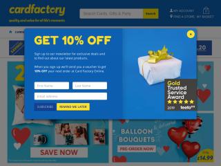 cardfactory.co.uk screenshot