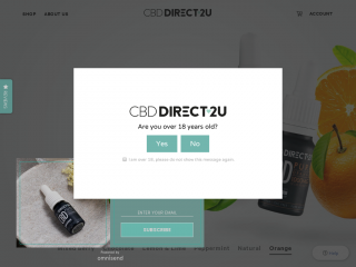 cbddirect2u.co.uk screenshot