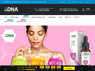 cbdna.co.uk screenshot