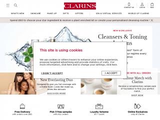 clarins.co.uk screenshot