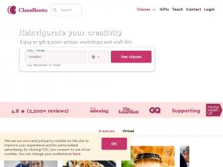 classbento.co.uk screenshot