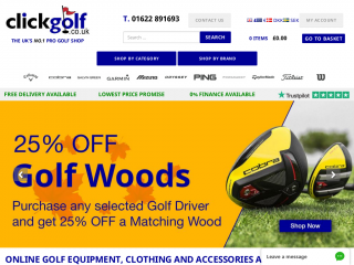 clickgolf.co.uk screenshot