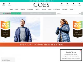 coes.co.uk screenshot