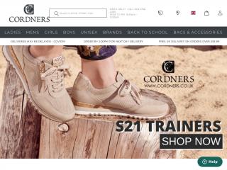cordners.co.uk screenshot