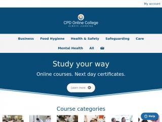 cpdonline.co.uk screenshot