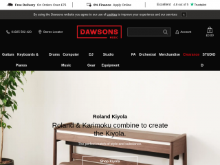 dawsons.co.uk screenshot