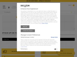 decleor.co.uk screenshot