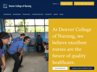 denvercollegeofnursing.edu screenshot