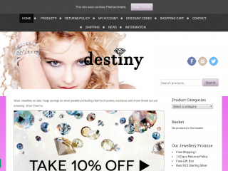 destinyjewellery.co.uk screenshot