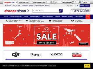 dronesdirect.co.uk screenshot