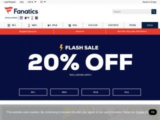 fanatics.co.uk screenshot