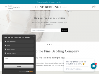finebedding.co.uk screenshot