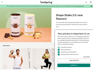 foodspring.co.uk screenshot
