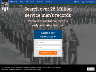 forces-war-records.co.uk screenshot