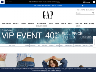 gap.co.uk screenshot