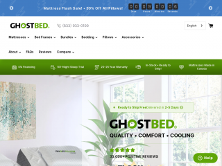 ghostbed.ca screenshot