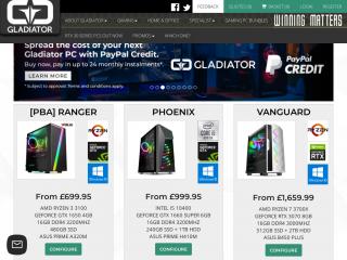 gladiatorpc.co.uk screenshot