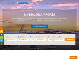 holidayparkings.co.uk screenshot
