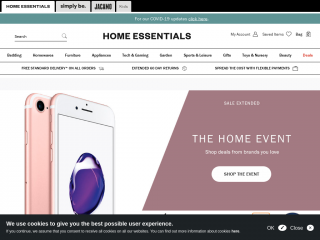 homeessentials.co.uk screenshot