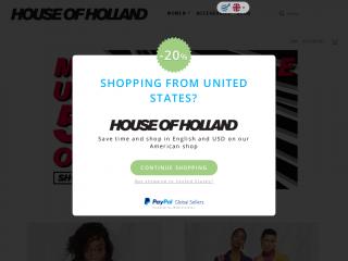 houseofholland.co.uk screenshot